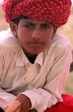 Jongen in de woestijn van Thar in India Royalty-vrije Stock Fotografie