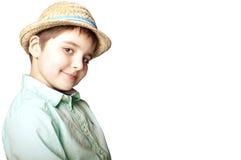 Jongen in een hoed Stock Fotografie