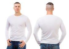 Jongen in een witte T-shirt stock afbeelding