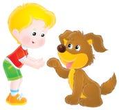 Jongen en hond Royalty-vrije Stock Fotografie