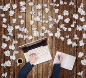 Jongen en Laptop 4 royalty-vrije stock afbeelding