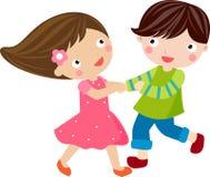 Jongen en meisje Royalty-vrije Stock Afbeelding