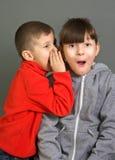 Jongen en meisje stock fotografie