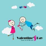 Jongen en Meisje met Cupidoboog en pijl Stock Foto's