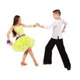 Jongen en meisjes het dansen ballet Royalty-vrije Stock Foto's