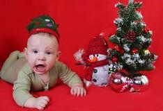 Jongen en nieuw jaar Royalty-vrije Stock Fotografie