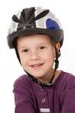 Jongen in fietshelm royalty-vrije stock fotografie