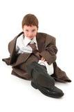 Jongen in Groot Kostuum Stock Foto's