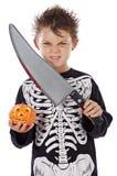 Jongen in Halloween Royalty-vrije Stock Afbeeldingen