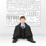 Jongen in het Beeld van het Concept van het Onderwijs Royalty-vrije Stock Fotografie