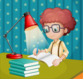 Jongen het bestuderen vector illustratie