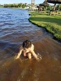 Jongen in het Water royalty-vrije stock foto