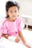 Jongen in het ziekenhuis Stock Fotografie