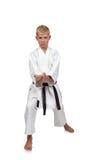 Jongen in karatekostuum Stock Fotografie