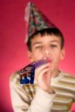 Jongen in Kerstmis GLB royalty-vrije stock foto