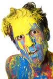 Jongen in kleur Royalty-vrije Stock Afbeelding