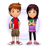Jongen & Meisje Stock Afbeelding
