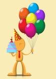 Jongen met ballons Royalty-vrije Stock Afbeelding