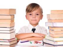 Jongen met boeken Royalty-vrije Stock Afbeelding