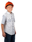 Jongen met bouwvakker Royalty-vrije Stock Foto's