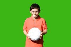 Jongen met de bal. Royalty-vrije Stock Afbeeldingen