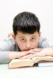 Jongen met een boek Stock Afbeelding