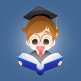 Jongen met een boek vector illustratie