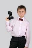 Jongen met een camera (04) Royalty-vrije Stock Afbeelding