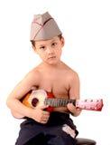 Jongen met een gitaar Royalty-vrije Stock Foto's