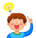 Jongen met een idee Stock Afbeelding