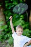 Jongen met een racket Royalty-vrije Stock Fotografie