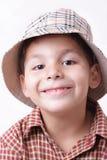 Jongen met hoed Stock Foto's