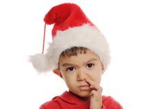 Jongen met Kerstmishoed Royalty-vrije Stock Foto