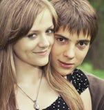 Jongen met meisje Stock Foto