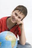Jongen met mobiele telefoon   Royalty-vrije Stock Fotografie
