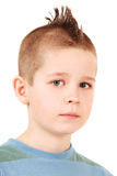 Jongen met mohawkkapsel Stock Fotografie