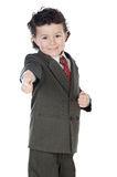 Jongen met omhoog duim Stock Foto