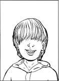 Jongen met ontbrekende tand Stock Foto
