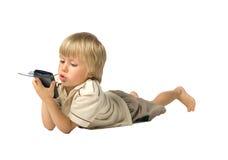 Jongen met PDA Stock Afbeeldingen