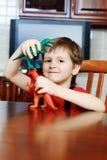 Jongen met speelgoed Royalty-vrije Stock Foto's