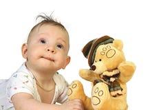 Jongen met stuk speelgoed Royalty-vrije Stock Afbeelding
