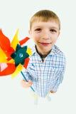 Jongen met stuk speelgoed royalty-vrije stock foto's
