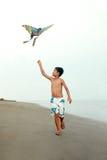 Jongen met vlieger royalty-vrije stock foto's