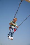 Jongen op Playground2 Stock Foto's