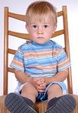 Jongen op stoel III Royalty-vrije Stock Foto's