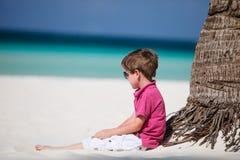 Jongen op vakantie Royalty-vrije Stock Fotografie