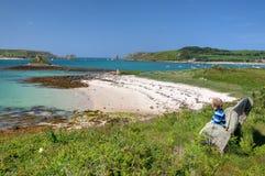 Jongen op vakantie, Cornwall Royalty-vrije Stock Afbeelding