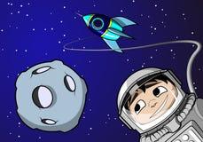 Jongen in ruimte Royalty-vrije Illustratie