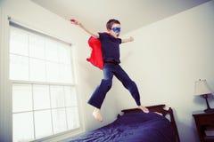 Jongen Superhero stock foto