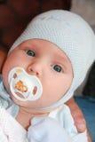 jongen van de één maand de oude baby Stock Afbeeldingen